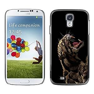 PC/Aluminum Funda Carcasa protectora para Samsung Galaxy S4 I9500 Cool Rawr Roar Leopard Animal Fierce / JUSTGO PHONE PROTECTOR