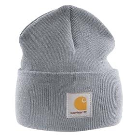 Carhartt Acrylic Watch Cap - Grey CHA18HGY Mens Winter Beanie Ski Hat Workwear