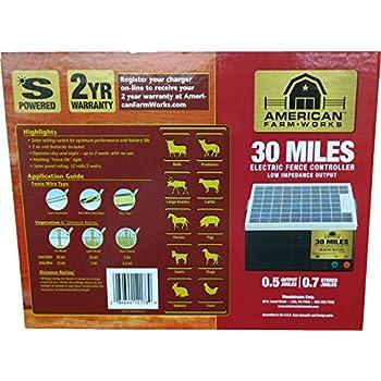 Amazon Com American Farmworks 30 Mile Solar Powered Low