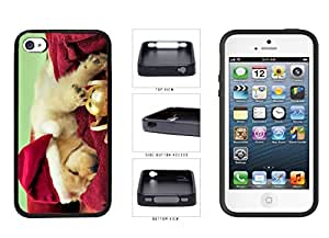 Cute Santa Dog TPU RUBBER SILICONE Phone Case Back Cover Apple iPhone 4 4s