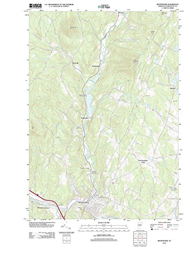 (Vermont Maps | 2012 Montpelier, VT USGS Historical Topographic Map | Cartography Wall Art | 33in x 44in)