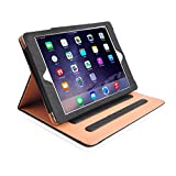 "MOFRED® Black & Tan Apple iPad Air 2 (Launched Oct. 2014) Leather Case-MOFRED®- Executive Multi Function Leather Standby Case for Apple New iPad Air 2 with Built-in magnet for Sleep & Awake Feature -- Independently Voted by ""The Daily Telegraph"" as #1 iPad Air 2 Case! Bild 2"