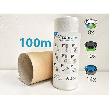 Recarga compatible Sangenic Tommee Tippee Angelcare y Sangenic para pañales - equivalente 14 cajitas Angelcare + rollo de cartón para rellenar fácil