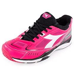 Diadora S. Pro Me Womens Tennis Shoes (6.0, White/Rose)