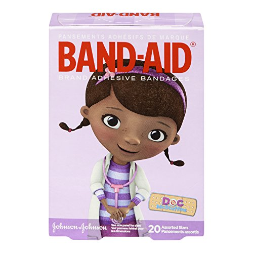 Price comparison product image Band-Aid Brand Adhesive Bandages Featuring Disney Junior Doc Mcstuffins,  Assorted Sizes,  20 Count