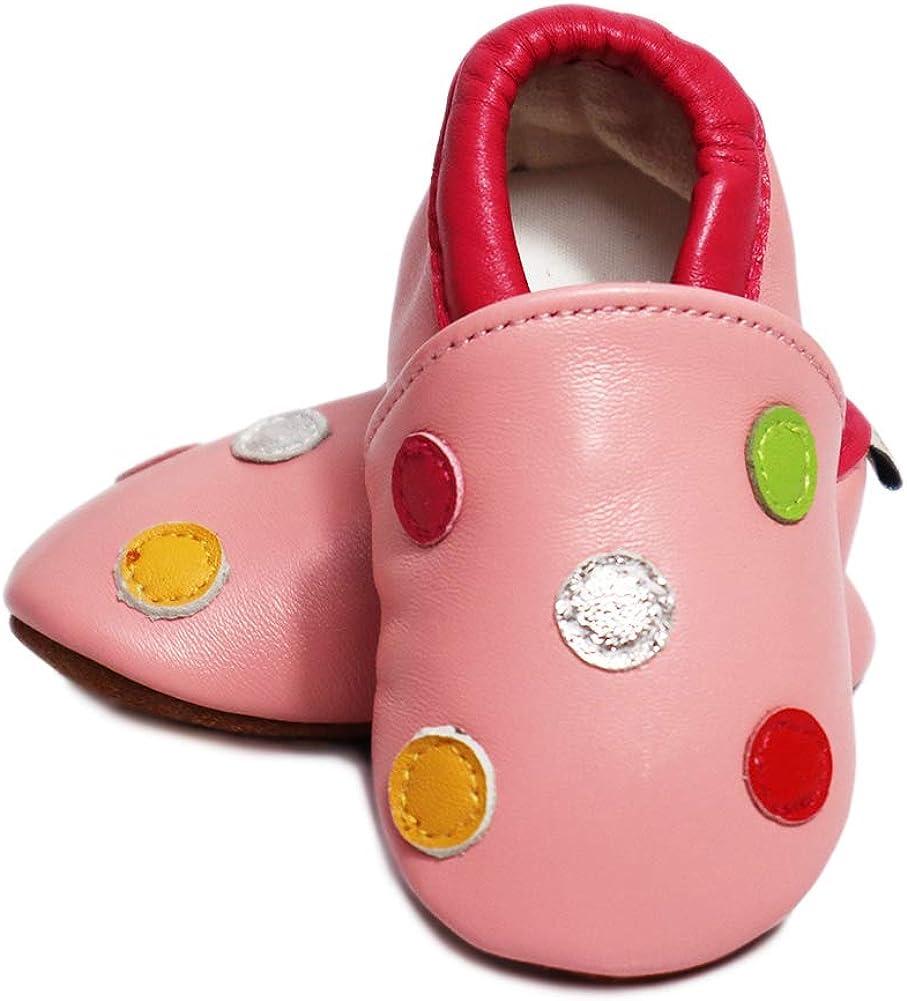 VASHCAME-Babys Prewalker of Soft Leather Non-Slip Breathable Sneaker Toddler Shoes for Newborn Children Boy Girl Infant