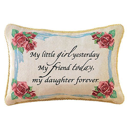 Collections Etc Daughter Forever Decorative Tapestry Accent Throw Pillow (Daughter Pillow)