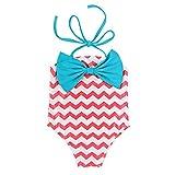 Cute Lovely Children Bow Wave One-piece Swimsuit Bikini
