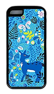 iPhone 5c Cases - Cheap And Beautiful Summer TPU Black Cases Personalized Design Lovely Baby Blue