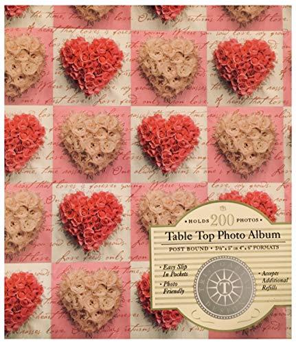 Photo Tin - Tri-coastal Design Rose Heart Post Bound Photo Album 200 Photos by Tina Higgins