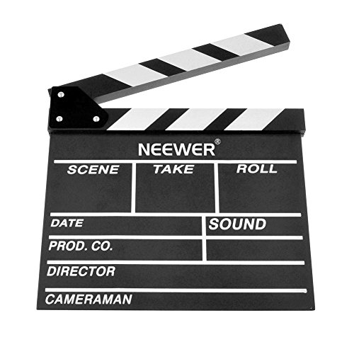Neewer 12''X11''/30cm X 27cm Wooden Director's Film Movie Slateboard Clapper Board (Movie Scene Board)