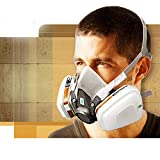 7 in 1 Half Facepiece Reusable 6200 Respirator Suit for 6200 Gas Spray Painting Protection Respirator
