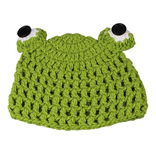 Huphoon Cute Cartoon Frog Style Baby Infant Newborn Handmade Crochet Beanie Hat Clothes Baby Photograph Props