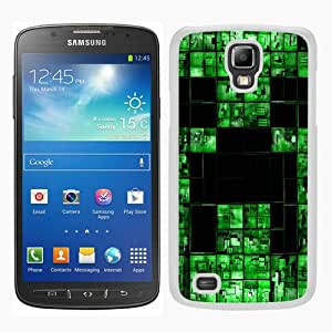 Minecraft 18 White Samsung Galaxy S4 Active i9295 Screen Phone Case Grace and Fashion Design