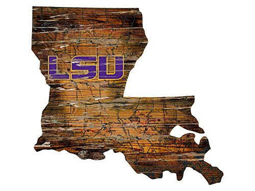 (Fan Creations LSU Cutout Sign (State), Multi)