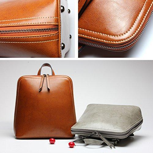 Zicac - Bolso mochila  para mujer marrón