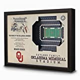 NCAA Oklahoma Sooners - Gaylord Family Memorial Stadium Stadiumview Wall Art, One Size, Birch Wood