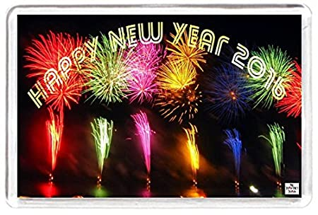 new year 2016 fireworks sparkle spark happy wishes saying gift present novelty