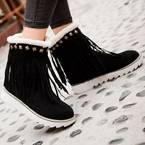Snow Black on Slip TAOFFEN Boots Women 5f8nqT