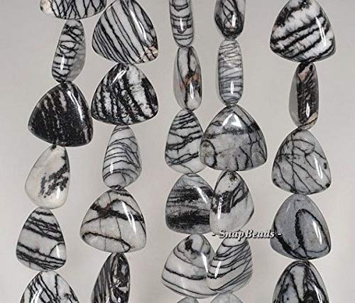 15X15MM Zebra Jasper Gemstone Grade A Triangle 15X15MM Loose Beads 7.5''