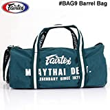 Fairtex BAG9 Barrel Bag Duffel Carry Exercise Fitness Gym Boxing Muay Thai MMA Travel Accessories Equipment Vintage Green Color