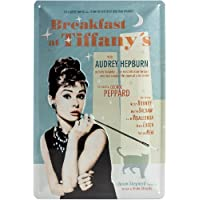 Nostalgic Art 22163 Breakfast at Tiffanys Blue Metal Sign 20 x 30 CM by Nostalgic Art