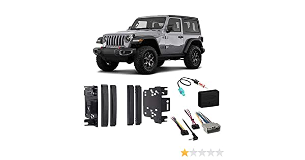Amazon.com: Jeep Wrangler & Unlimited 2017-2018 Double DIN ... on