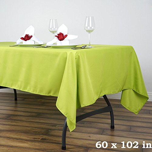 BalsaCircle 60x102-Inch Sage Green Rectangle Polyester Tablecloth Table Cover Linens for Wedding Party Events Kitchen Dining (Polyester Sage Tablecloth)