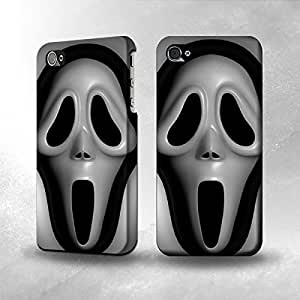 Apple iPhone 4 / 4S Case - The Best 3D Full Wrap iPhone Case - cream Mask
