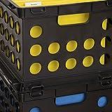 Sterilite 16939006 File Crate, Black, 6-Pack