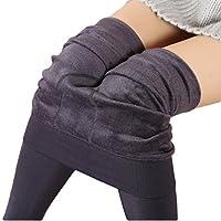 Romastory Women's Winter Warm Velvet Elastic Leggings