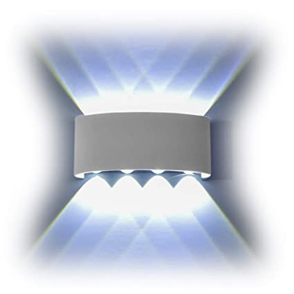 bright indoor wall lights elinkume funrui 8w wall sconce ip65 waterproof light large power led bright lamps up and