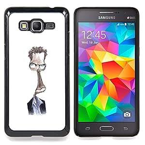 /Skull Market/ - Steve Drawing White Alien Character For Samsung Galaxy Grand Prime G530H G5308 - Mano cubierta de la caja pintada de encargo de lujo -