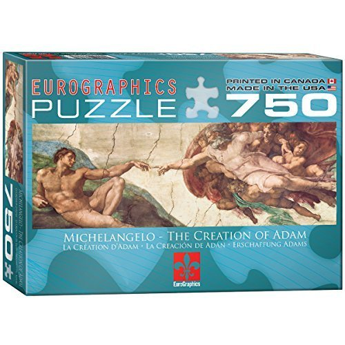 Eurographics Creation of Adam by Michelangelo Puzzle (750 Pieces) by Eurographics