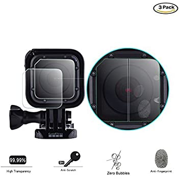Camera Lens Replacement Kit Tempered Glass Protective Film for GoPro Hero 5
