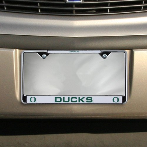 Oregon Ducks Chrome License Plate Frame