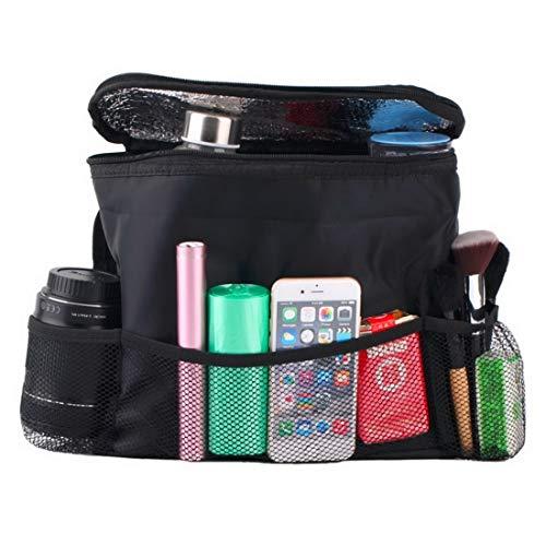 TAYARA Car Pockets Waterproof Leakproof Stash Away Seat Back Trunk Organizer Trash Station Storage Bag Holder Cooler Hanging Backseat Pocket Bottle Tissue Protector Tablet Durable Covers (Black) ()