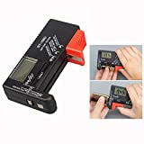 Cisixin Digital Battery Tester Battery Checker for AA AAA C D 9V 1.5V Button Cell Batteries