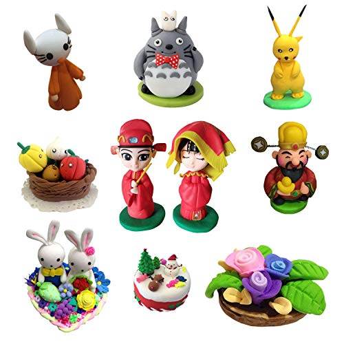 DIY Colorful Clay,CiaraQ Creativity Street Modeling Clay, Soft Moulding Craft Oven Bake Clay Sampler 24 Colors Clay Set, Best Gift for Children