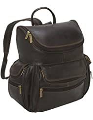 LeDonne Distressed Leather Laptop Backpack, Choc