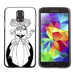 LECELL--Funda protectora / Cubierta / Piel For Samsung Galaxy S5 SM-G900 -- Dance Man Woman Funny Alcohol Ball --