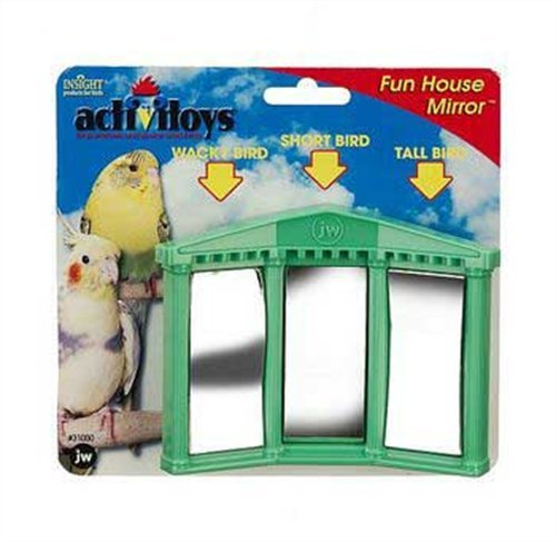 JW Pet Company Activitoys Fun House Mirror Bird Toy, Colors may Vary, My Pet Supplies