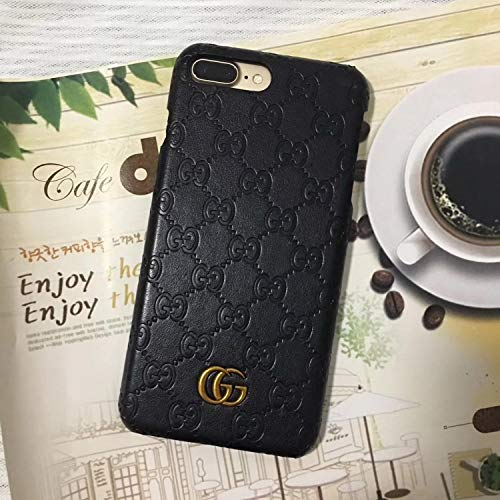 - Luxury Elegant PU Leather Monogram Classic Style Case Cover Designed for Apple iPhone 7 Plus iPhone 8 Plus Only 5.5