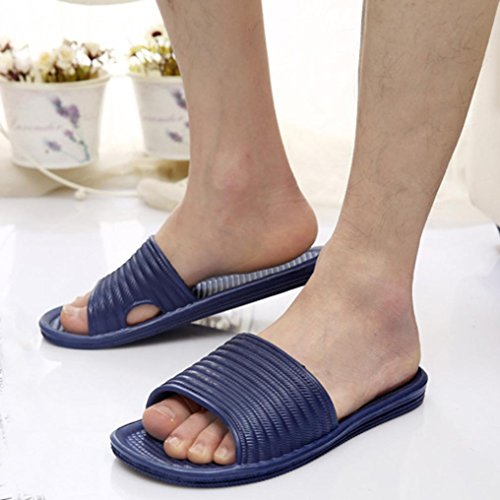 Bovake Summer Women Sandals, Ladies Solid Bath Slippers Sandals Indoor & Outdoor - Beach Sandals Wedges Shoes Footwear Flat Flip Flop Sandal | No Rubbing | Toes Comfortable Navy