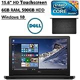 "Dell Inspiron 15.6"" 5000 Series Flagship Premium Model LED-Backlit Touchscreen Laptop | Intel i3 Dual-Core | 6GB RAM | 500GB HDD | DVD+/-RW | Webcam | Bluetooth | HDMI | Windows 10 (Black)"