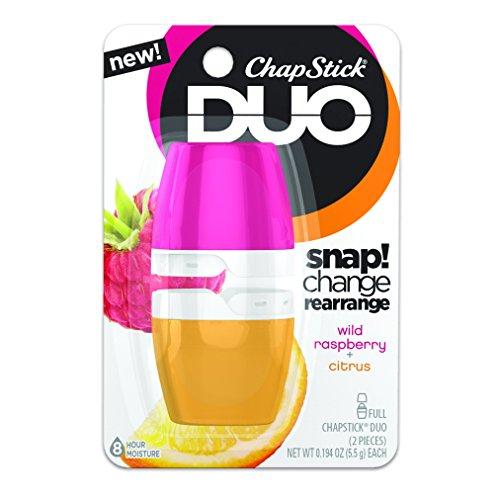 ChapStick DUO Wild Raspberry & Citrus 0.388 oz (Pack of 3)