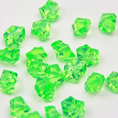- Apple Green Acrylic Ice Rock Crystals Treasure Gems for Table Scatters, Vase Fillers, Wedding, Banquet, Party, Event, Birthday Decoration (Apple Green, 385)