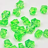 Apple Green Acrylic Ice Rock Crystals Treasure Gems Table Scatters, Vase Fillers, Wedding, Banquet, Party, Event, Birthday Decoration (Apple Green, 150)