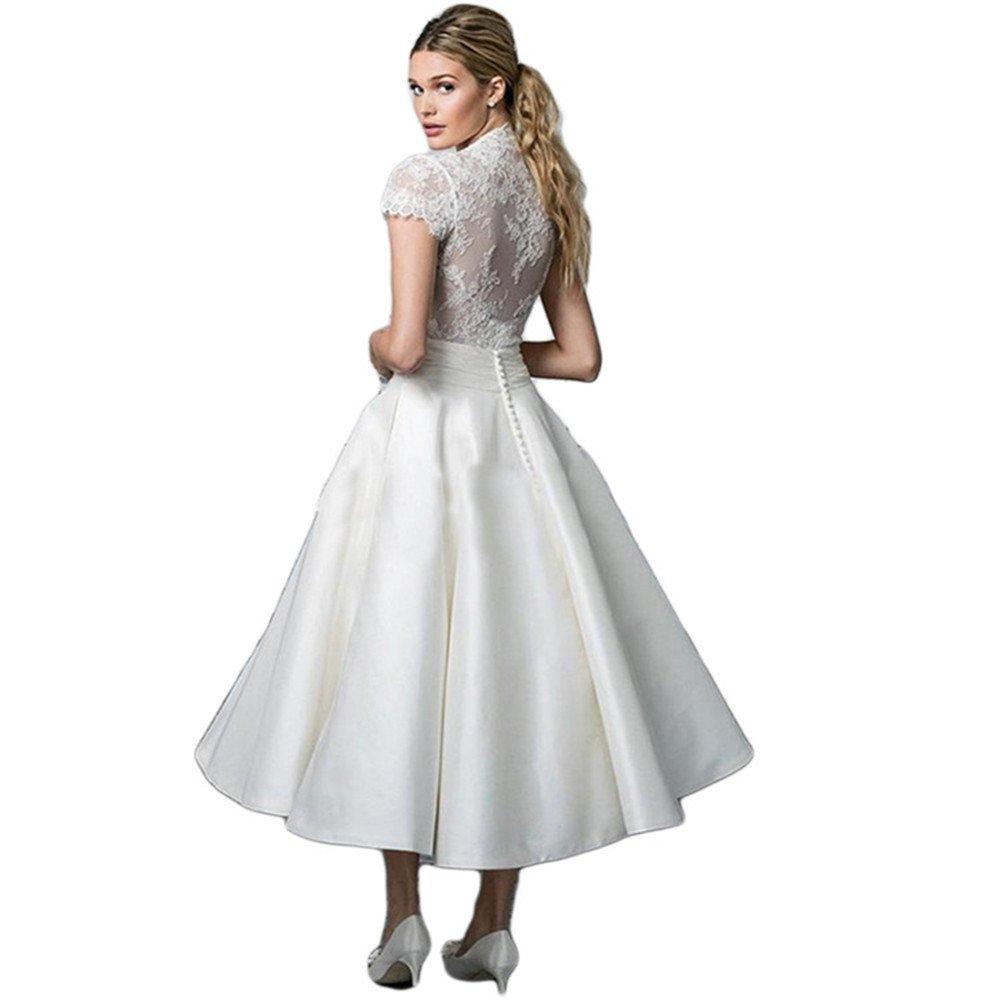 Haroty Vestidos Encaje Escote V Patchwork Bodybcon Ajustados para Mujeres Verano Wedding Boda Novia Fiesta Noche: Amazon.es: Ropa y accesorios