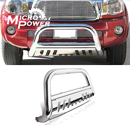 """U-drive 3"""" inch Stainless Steel Bull Bar Front Bumper Grill Guard only fit for 2005-2015 Toyota Tacoma All Models"""